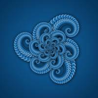 Spiral Flower Fractal in Blue by Susyspider