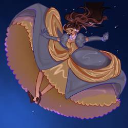 Jetlag Cinderella falling in the night sky