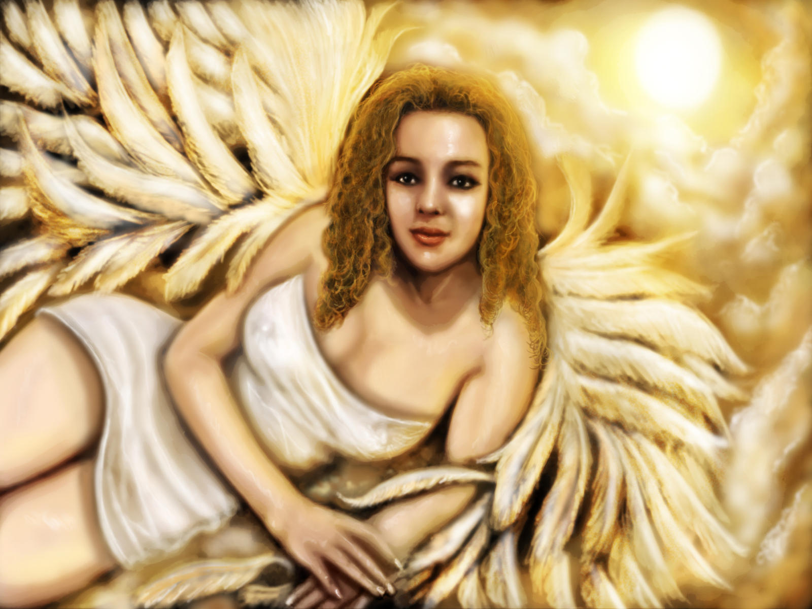 Sara angel of light by ScriptFx on DeviantArt
