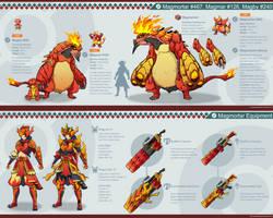 Pokemon Hunter: Magmortar by PursuerOfDarkness