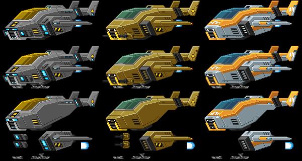 Starbound: Shuttles Spritesheet by PursuerOfDarkness