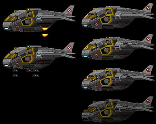 Starbound: XCOM Skyranger Spritesheet by PursuerOfDarkness