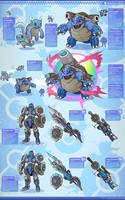 Pokemon Hunter: Blastoise by PursuerOfDarkness