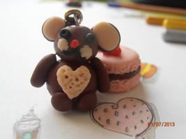 Fimo:Teddy and macaron