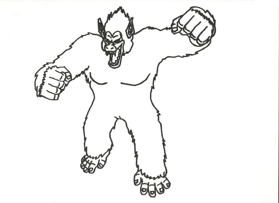 Goku The Great Ape Sharpie By Codym On Deviantart