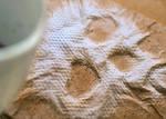 Coffee Skull on Napkin
