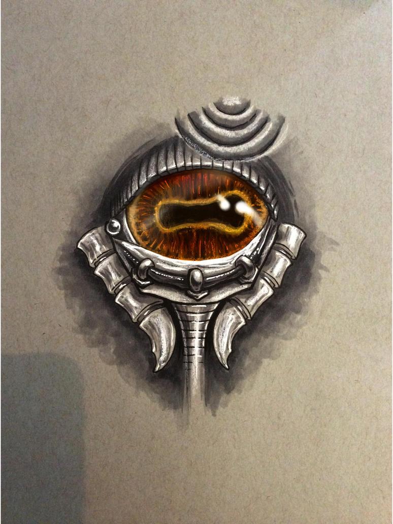 Bio-Mech Goat Eye by MillionPM