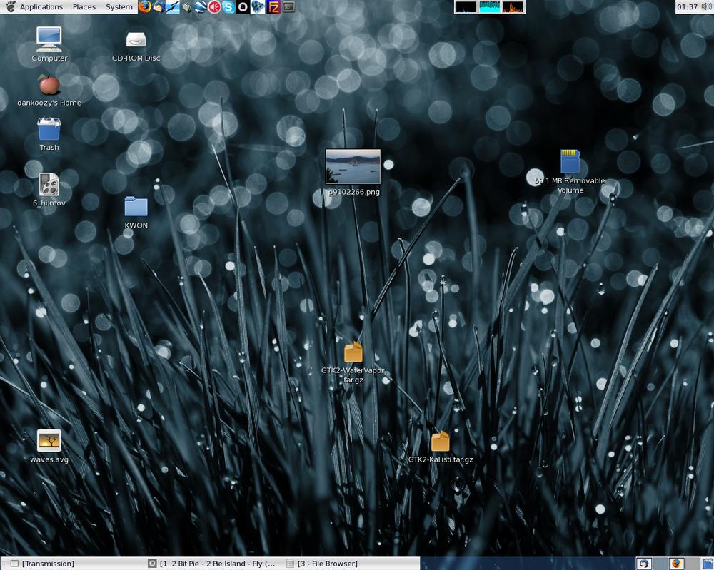 My disorganised desktop by towel401