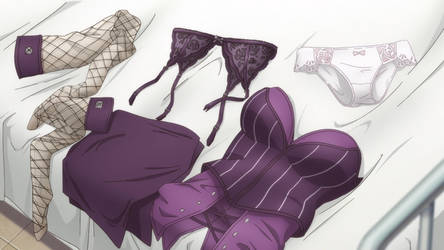 Eriko sensei cloth and underwear by pheonix1992