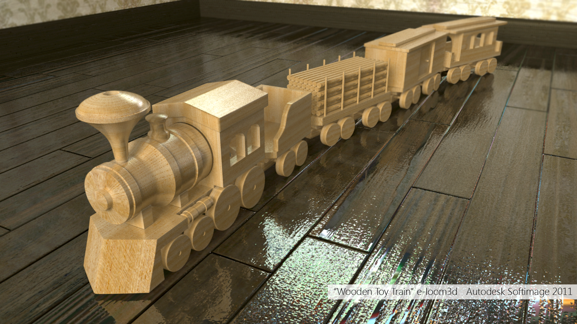 Wooden toy train by e-loom3d on DeviantArt