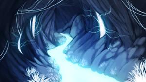 Bioluminescence caves