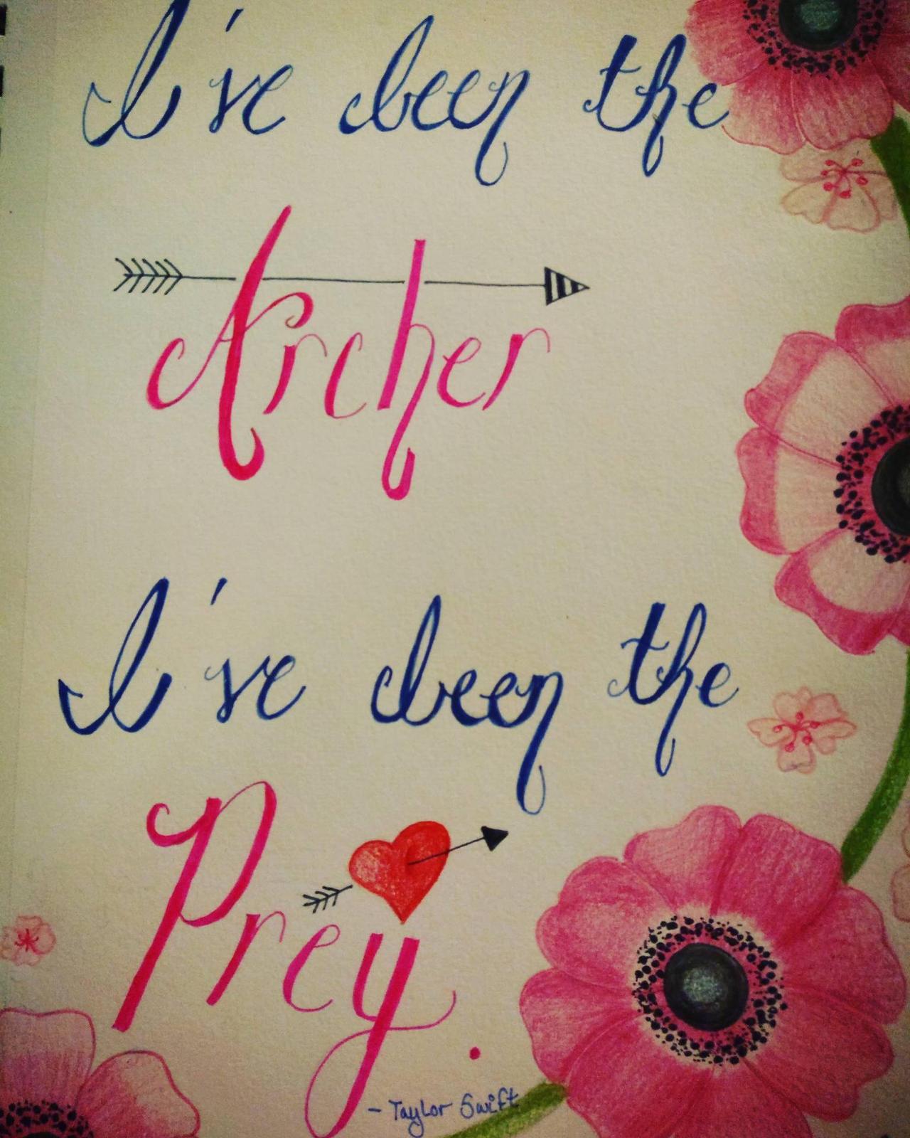 Archer By Taylor Swift Lyric Art By Takarastarlight On Deviantart