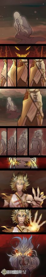 Comic Page: Corrupted Moon Flower