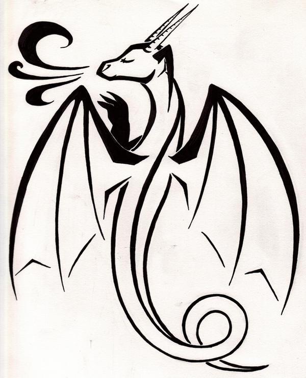 Simple Dragon Tattoo by TsukiTsu on DeviantArt