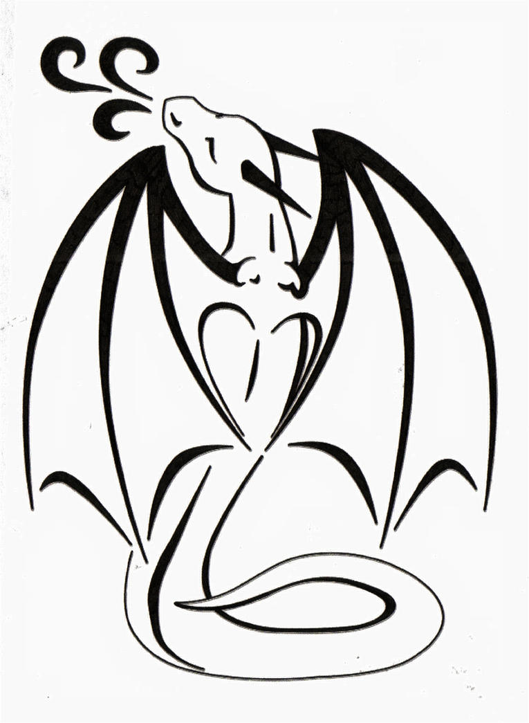 Uncategorized Simple Drawing Of A Dragon dragon love tattoo by tsukitsu on deviantart tsukitsu