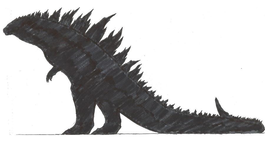 Legendary Godzilla silhouette by KitWhitham