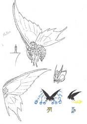 MH Mothra by KitWhitham