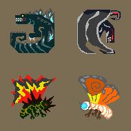 MH Kaiju Icons by KitWhitham