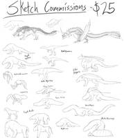 Sketch Commissions- OPEN