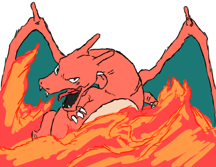 Charizard and Flames