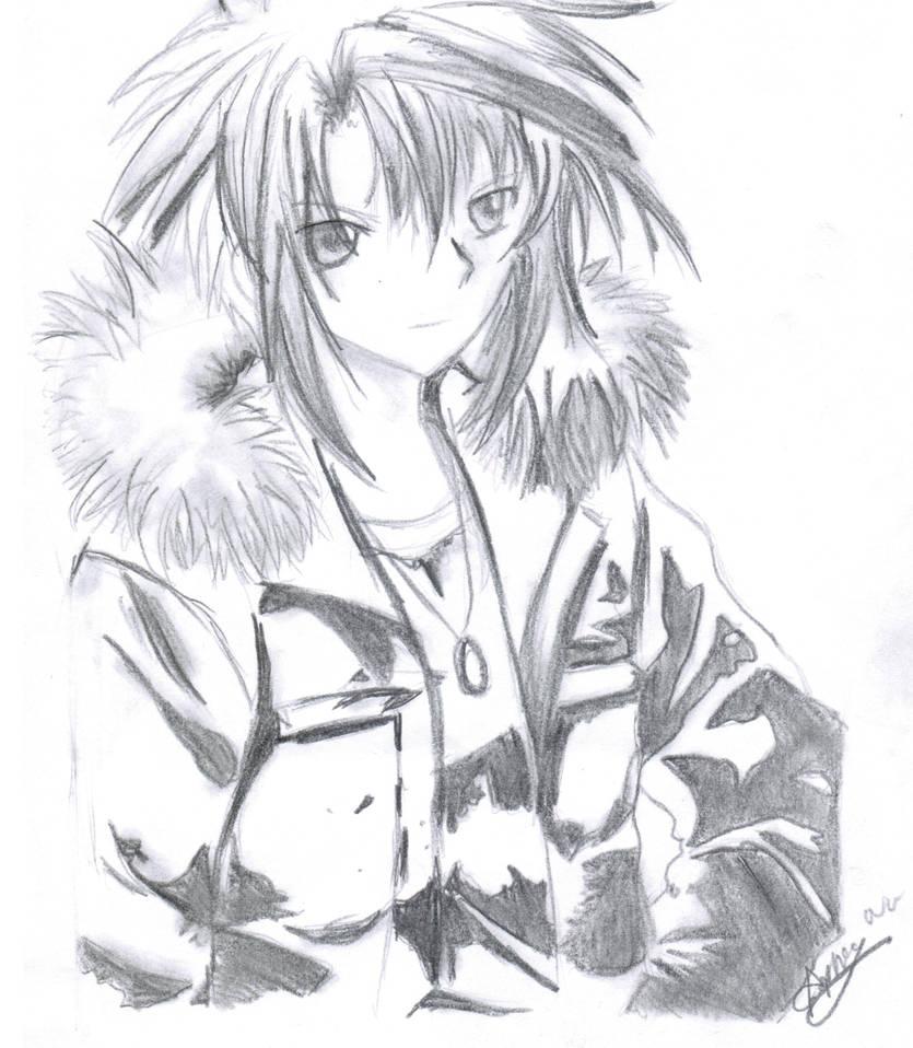 Anime Boy in fur jacket by mangafox23 on DeviantArt