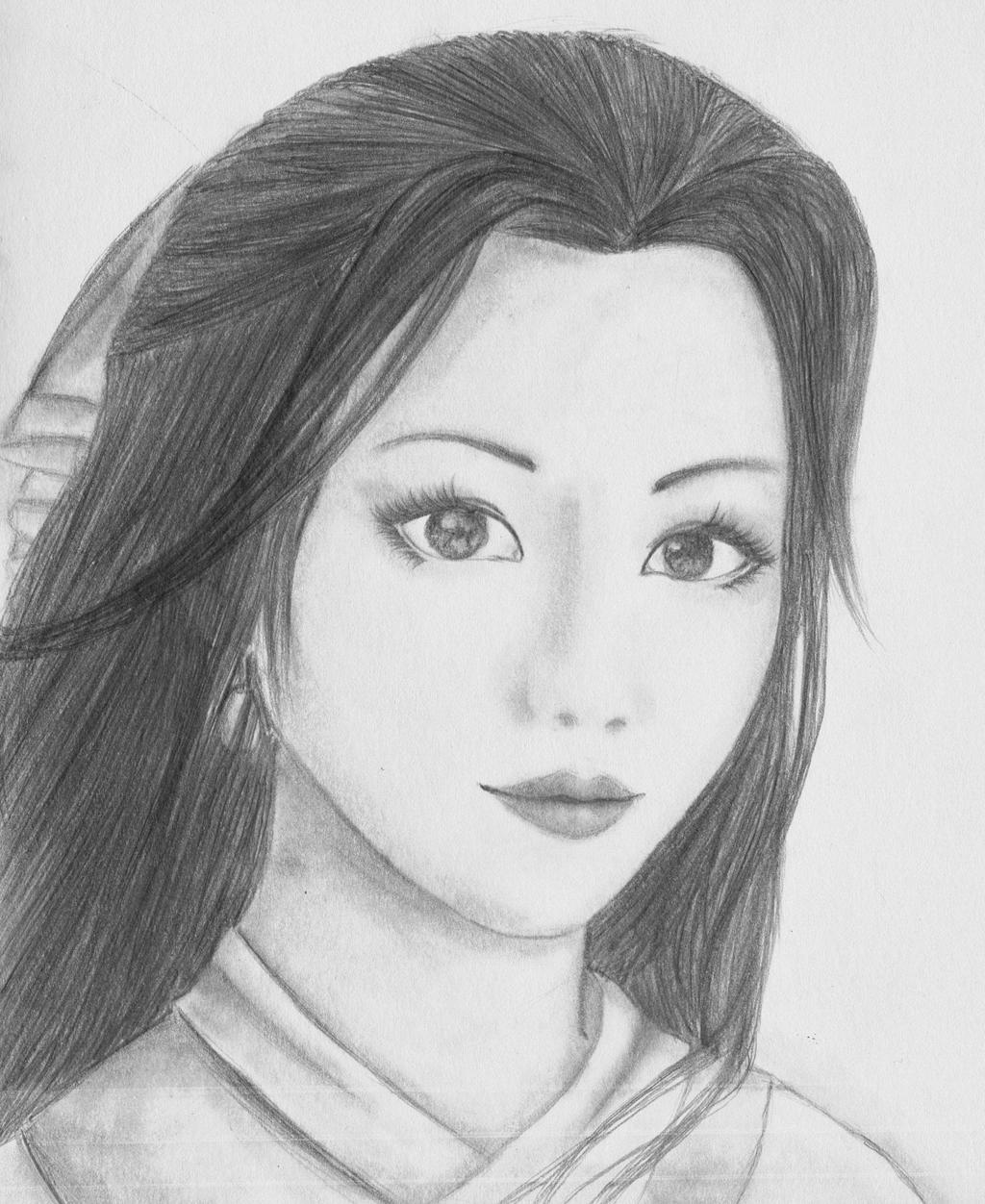 How to draw a chinese woman