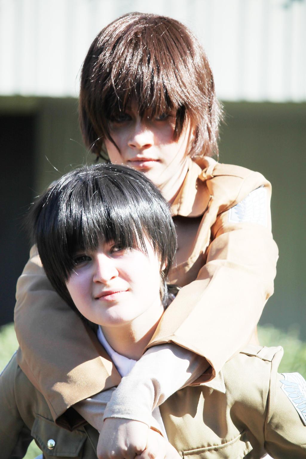 SnK: Levi and Eren cosplay 3 by themuffinshota on DeviantArt