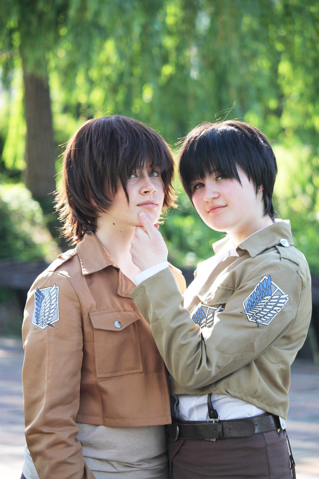 SnK: Levi and Eren cosplay 4 by themuffinshota on DeviantArt