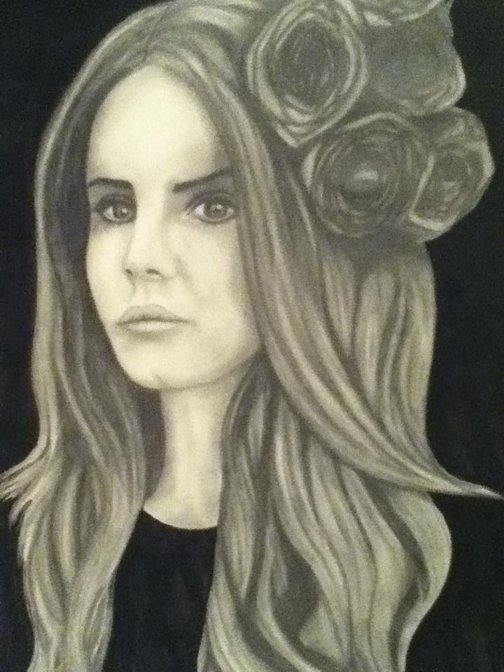 Lana Del Rey Portrait by KayleniaArt