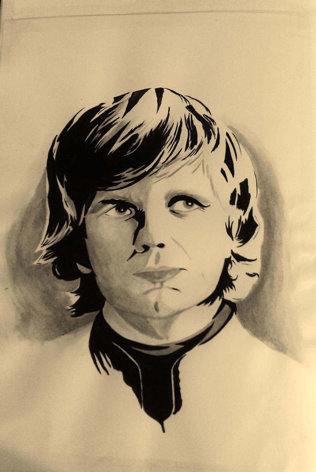 Tyrion Lannister in Ink by KayleniaArt