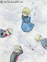 Aside, I watch them being hurted (Hetalia fanart) by Can-tan