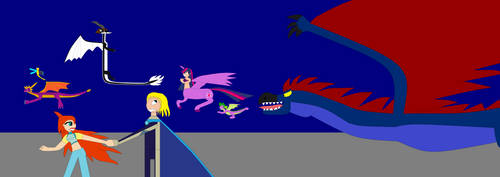 BTaF in SRA- Monster Dino Bird Chase by Dragonfire92379