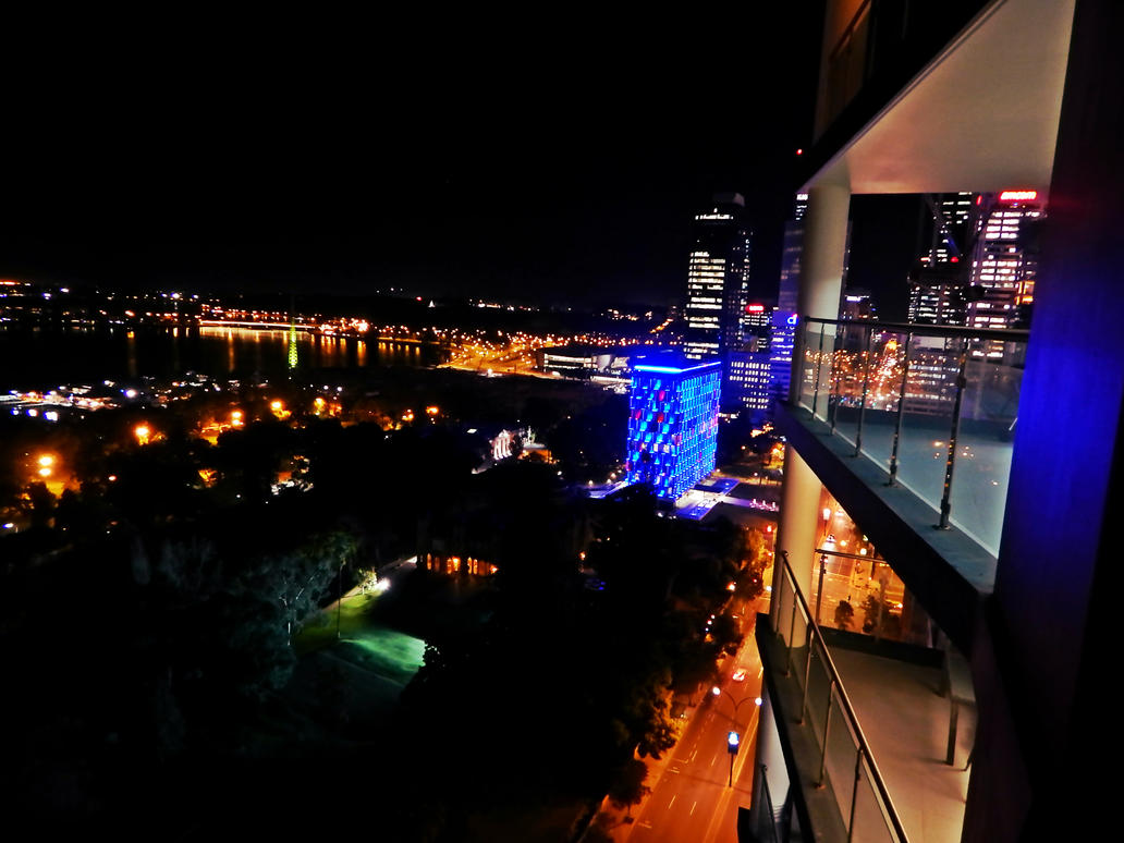 Night in Perth City by SilverSoul1496