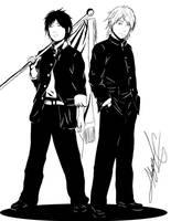 Danso Takahashi Minami and Oshima Yuu by Amamiya-Yuuko