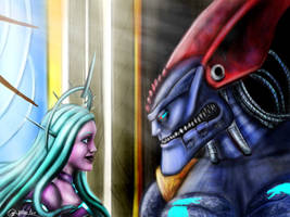 Megabyte and Daemon virus by SvPolarFox