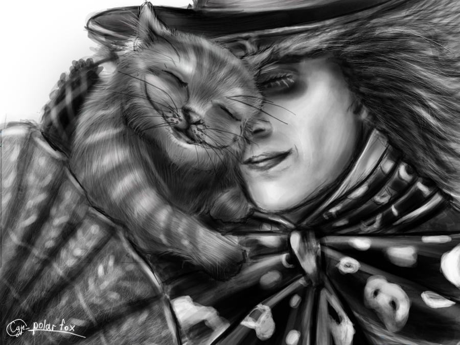 Mad Hatter and  Cheshire Cat by SvPolarFox