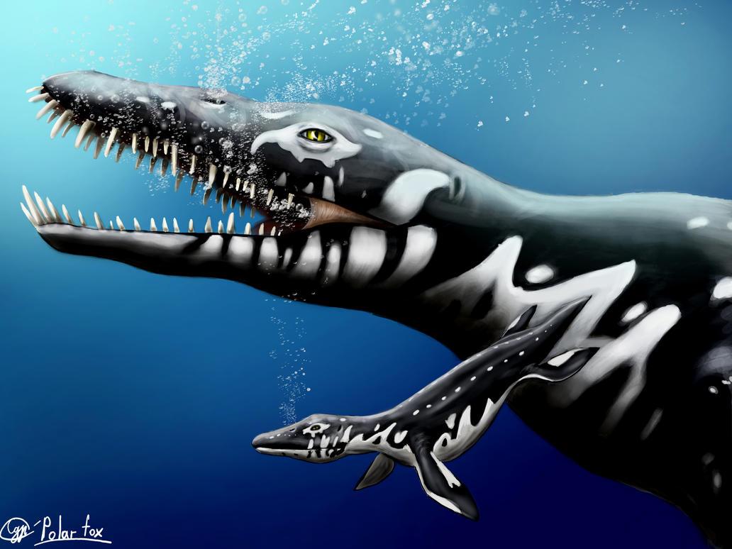Liopleurodon and the child by SvPolarFox on DeviantArt  Liopleurodon an...