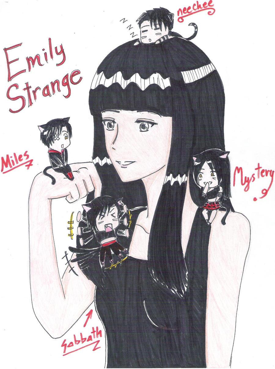Emily Strange and friends by uber-neko