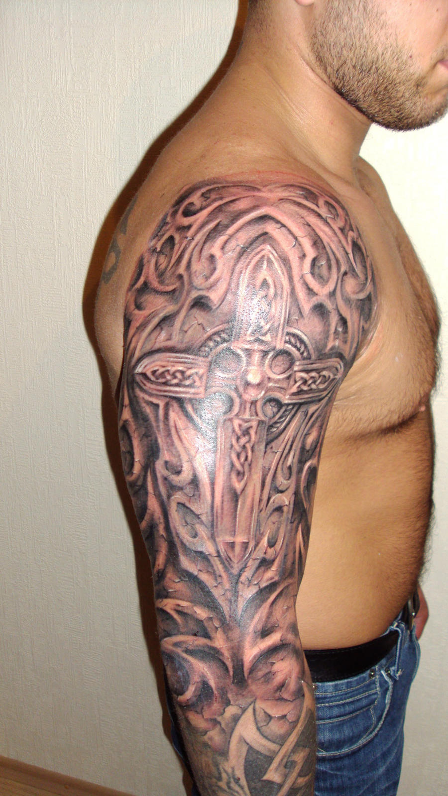 Celtic Cross Tattoos for Men