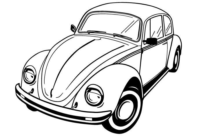 Volkswagen Beetle Vector by wall-decal-shop on DeviantArt
