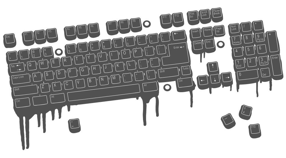 Computer Keyboard Vector Art by wall-decal-shop on DeviantArt