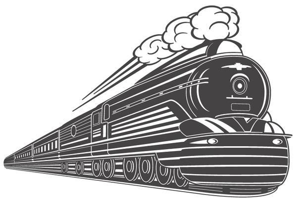 Art Deco Train Vector Design by wall-decal-shop on DeviantArt