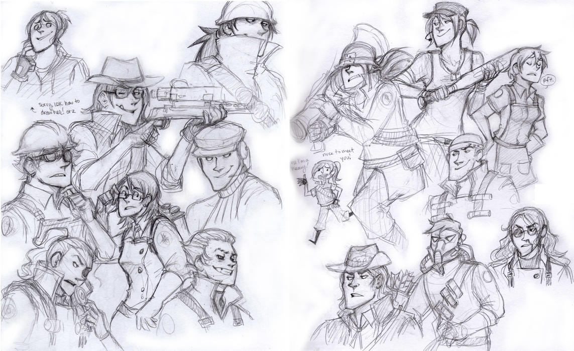 gang fortress sketches by zerostop