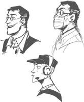 medic and scout doodles by zerostop