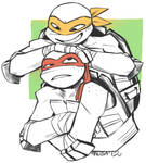 raph and mikey