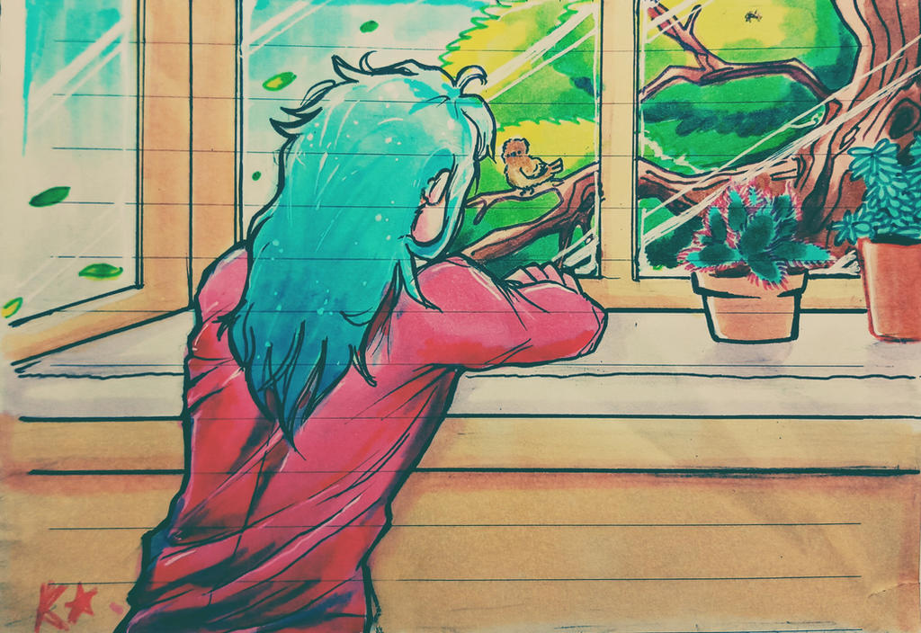 by the window by krugo