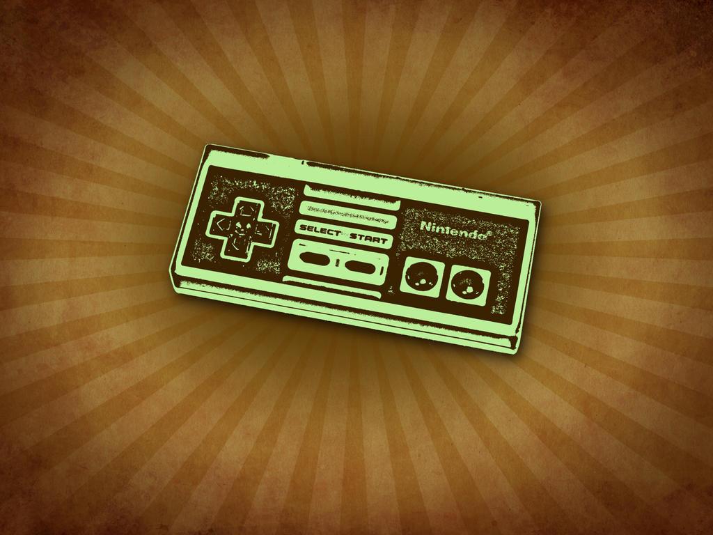 NES Controller Retro Wallpaper by bschulze