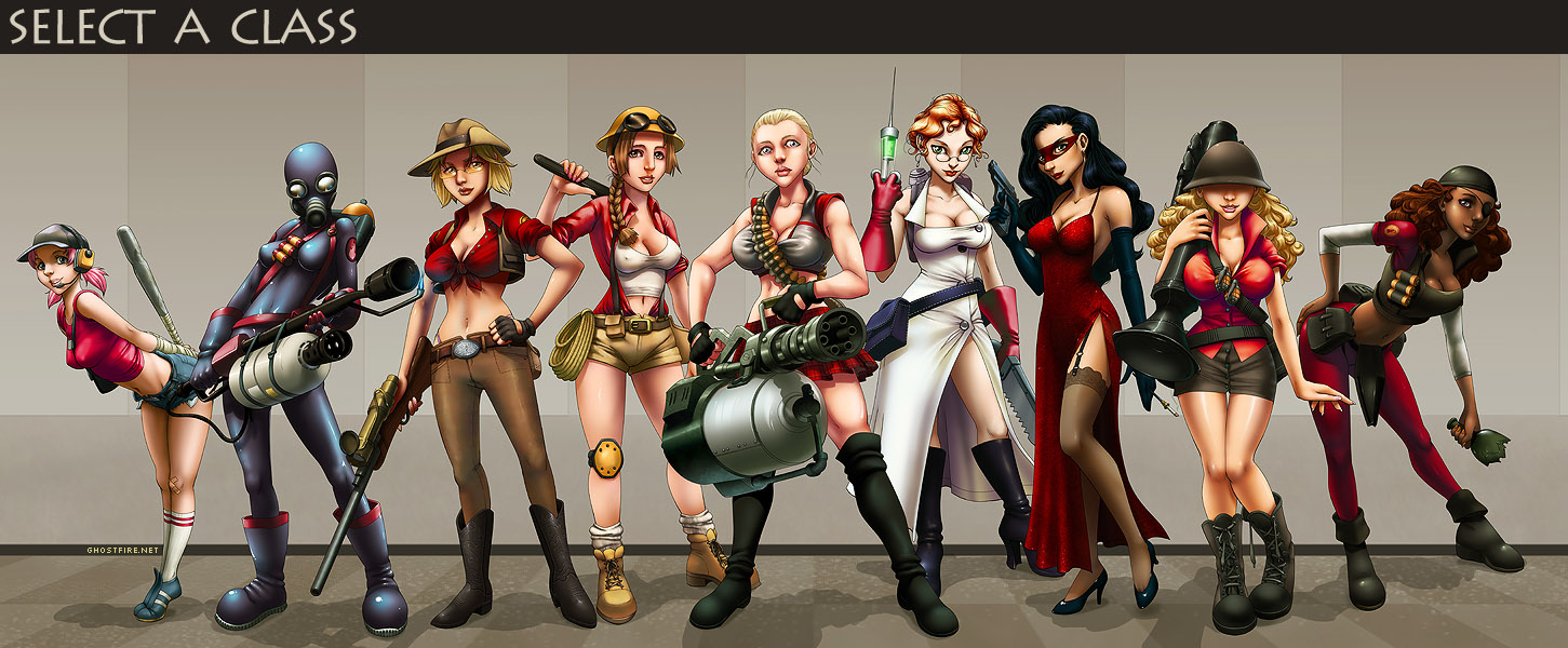 TF2 Girls - COLORED - done (Team Fortress 2 > Threads ...