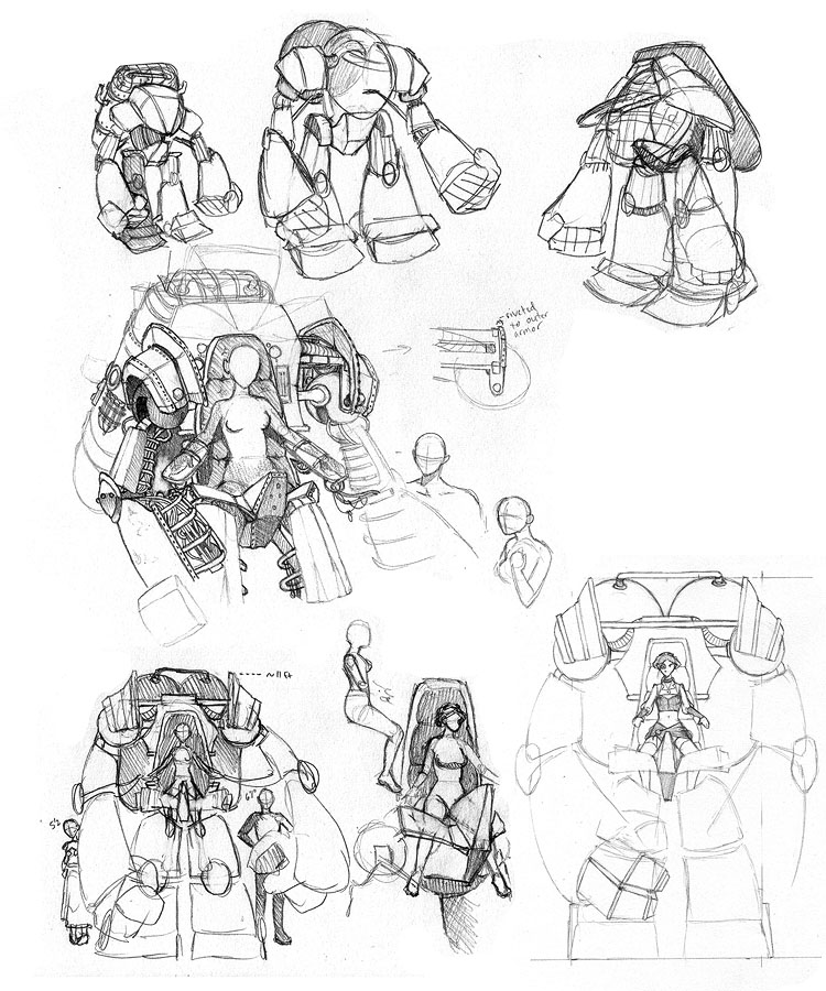 Early Concept - Steampunk Mech