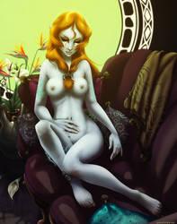 Sleepy Midna - Nude by ghostfire